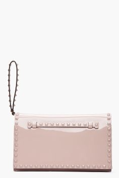Valentino for Women Collection Valentino Clothing, Patent Leather, Taupe, Studs, Stuff To Buy, Handbags, Accessories, Collection, Women