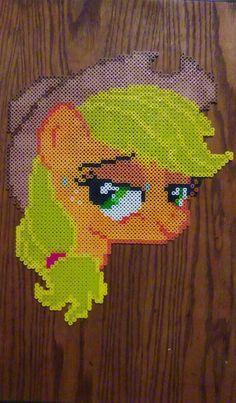 MLP Applejack perler beads by GeneralHound