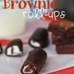 Brownie Roll-Ups - Must be delicious even without rolling them up!