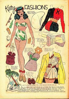 katy keene paper dolls - Google Search * 1500 free paper dolls The International…