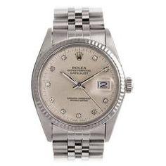 Rolex Datejust with Silver Diamond Dial Circa 1984