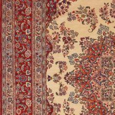 "Persian Saroogh Wool Beige Rectangle Area Rug (6'7"" x 10'2"") - 251-13853"