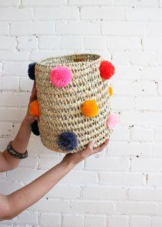 Pompom basket from Baba Souk