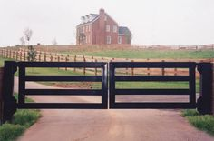 Classic Equine Equipment, crazy expensive but really classy looking. Driveway Entrance Landscaping, Driveway Gate, Front Gates, Entry Gates, Farm Entrance Gates, Fence Gates, Wood Fences, Farm Gate, Farm Fence