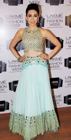 Indian actress, Karishma Kapoor at Lakme Fashion Week 2014...