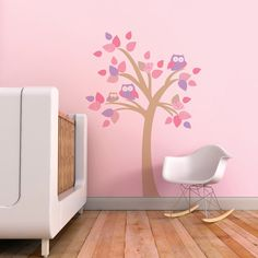 Children Decal Tree with Owls Children Wall by trendypeasdecals