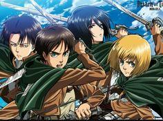 Eren,Armin,Mikasa and Levi(AOT)