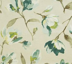 Pindler & Pindler Plumaria Spa Drapery in Den Fabric Patterns, Color Patterns, Print Patterns, Drapery Fabric, Fabric Decor, Chair Fabric, Modern Farmhouse, Beach Fabric, Victorian Chair