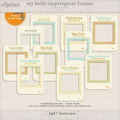 My Belle Inspiregram Frames {element pack}