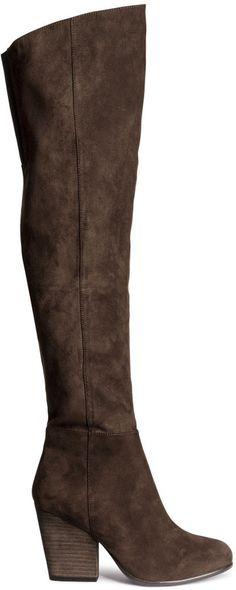H&M Knee-high Boots - Dark brown