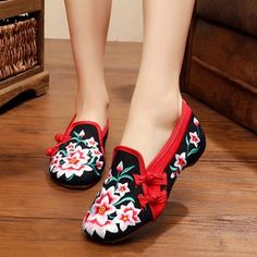 Special offer Veowalk Plus Size 34-41 Spring Woman Fashion Chinese Casual Flats For Women Flower Embroidered Mary Janes Cloth Walking Shoes just only $12.21 with free shipping worldwide  #womenshoes Plese click on picture to see our special price for you