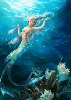 Mermaid Beauty are Real? EXPlore the secrets of the ocean,these beauties of the sea are awesome sexy mermaid Fantasy Creatures, Mythical Creatures, Sea Creatures, Mermaid Fairy, Mermaid Tale, Mermaid Room, Fantasy Mermaids, Mermaids And Mermen, Fantasy Kunst