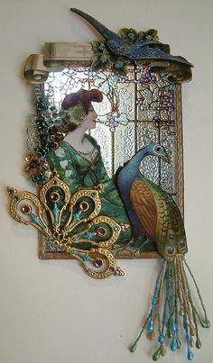 Art Nouveau, Woman with Peacock ATC | Flickr - Photo Sharing!