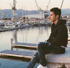 Staring at the water, thinking about me, of course