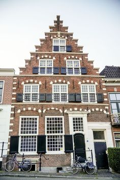 Beautiful buildings in Haarlem, The Netherlands - day trip from Amsterdam