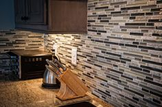 Backsplash for one of our client's kitchen