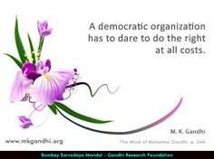 #gandhi #gandhiquotes #democracy #democracyquotes Democracy Quotes, Mahatma Gandhi Quotes, Politics, Mindfulness, Thoughts, Flower, Quotes By Mahatma Gandhi, Consciousness, Flowers