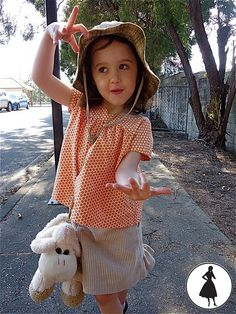 Oliver + S sewing patterns Music Class Skirt + Ice Cream Social Top by 3HoursPast, via Flickr
