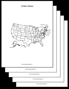 Blackline United States Map Free Click And Learn Free Blank - Human plaque dot map us