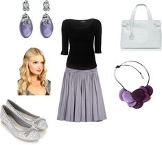 """""""Teacher Style - Grey and Amythyst"""" by becka-boo1220 on Polyvore"""