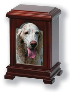 Wooden Photo Frame Cremation Pet Urn in Cherry, Oak, Mahogany Finish (LH70)