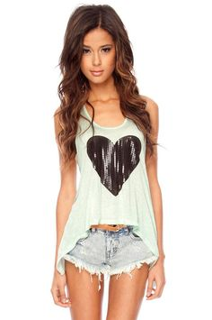 Love the color of this tank top - it has an open back too $27