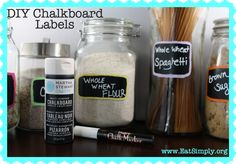 DIY Chalkboard Labels for Food Storage Containers