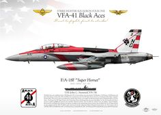 "UNITED STATES NAVY VFA-41 ""Black Aces"" USS John C Stennis (CVN-74)"