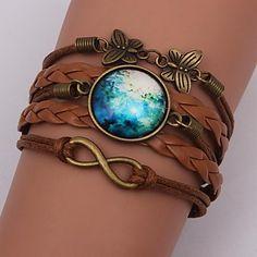 De eruner®handmade mode vrouwen mooie galaxy kosmische maan armbanden 2016 - €1.95