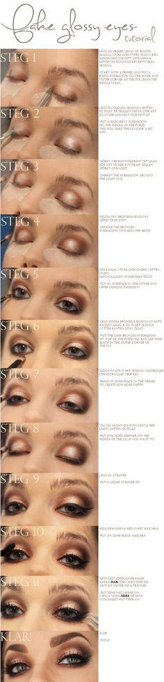 glossy/shiny eyeshadow tutorial