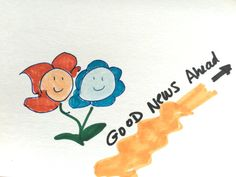 Good News Ahead Lilymoonsign Orange blue by LilyMoonsigns on Etsy