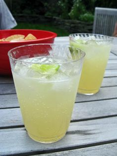 A favorite summertime cocktail, plus it's cheap! The Paloma also works as a punch- just freeze a cake mold of the grapefruit soda to use in place of ice. Enjoy!