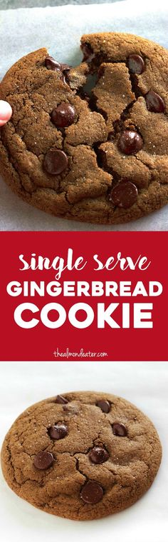 A SINGLE SERVE, soft, chewy, fluffy gingerbread cookie. The perfect portion-controlled recipe for when cookie cravings strike!