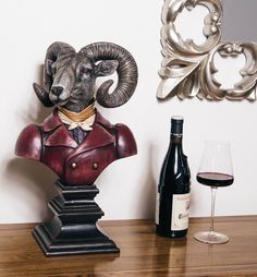 Lord of the Manor Ram Bust by smithersofstamford on Etsy https://www.etsy.com/uk/listing/266944151/lord-of-the-manor-ram-bust