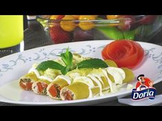 Canelones Doria rellenos de Atún con queso crema