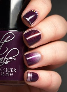 Cult Nails Vicious Skittle Art: Purple Skittle Mani by The Nailasaurus