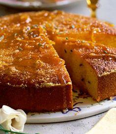 Orange and Rosemary Polenta Cake