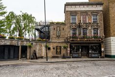 """The best place to drink in London"" according to the Critical Couple. Riverside pub in Shadwell."
