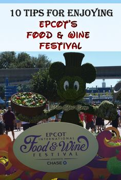 10 Tips for Enjoying EPCOT's Food & Wine Festival. Tips to make your Food and Wine Festival trip the BEST EVER!
