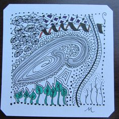 Zentangle by Mary of Zen Drawing Club, June 2016