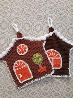 Crochet Kitchen, Crochet Home, Knit Crochet, Crochet Potholders, Happy Fall Y'all, Pot Holders, Elsa, Ornament, Weaving