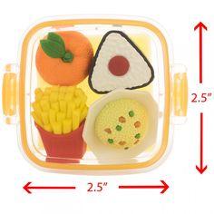 Japanese Variety Lunch Bento Box Erasers, 3 ver.