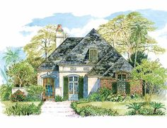 Eplans French Country House Plan - Subtle French Country Design - 1923 Square Feet and 3 Bedrooms from Eplans - House Plan Code HWEPL06718