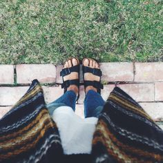how to wear birkenstocks for summer 2014 - LA Winter // Birkenstocks // View From The Topp Looks Style, Style Me, Spring Summer Fashion, Winter Fashion, Birkenstock Sandals, Dress Sandals, Everyday Fashion, Passion For Fashion, What To Wear