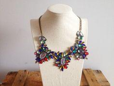 Bisutería : Collar de flores de piedras de colores