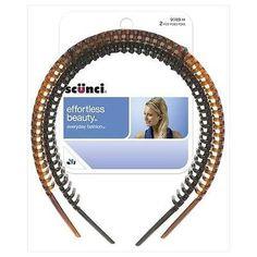 "Scunci Effortless Beauty Headbands Hair Fashion Accessories Hairbands 1"" Pack 2 | eBay"