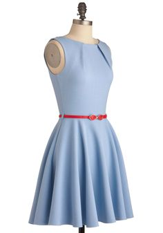 Luck Be a Lady Dress in Powder Blue | Mod Retro Vintage Dresses | ModCloth.com