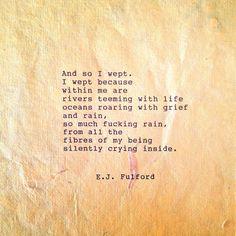 And so I wept ⭐Linda ❤ Forever 28
