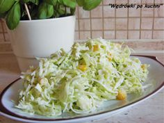 Surówka z pora Cabbage, Salads, Food And Drink, Vegetables, Kitchen, Soups, Diet, Essen, Cooking