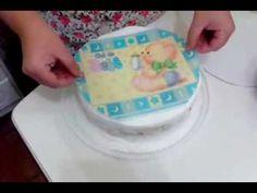 Como Transferir um desenho para bolos de Pasta Americana - YouTube Bolo Mickey, Piping Design, Bolo Cake, Key Lime, Mini Cakes, Jello, Flan, Custard, Cake Decorating